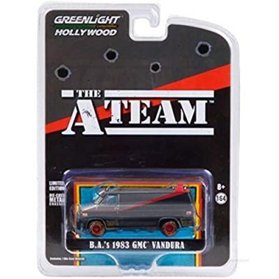 1983 GMC Vandura Van (B.A.'s) Black & Silver (Dirty Version) The A-Team (1983-1987) TV Series 1/64 Diecast Model Car by Greenlight 44865 F