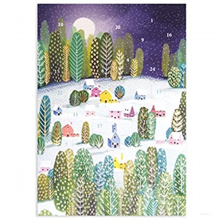 Roger la Borde Forest Advent Calendar Card Let it Snow 170 x 120 mm Gold foil.