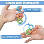 AHEYE Finger Magnetic Ring - Anxiety and Stress Relief Toy Finger Toy Magnetic Ring Durable Unzip Toys Finger Exerciser for Anxiety Fidget Rings Autism ADHD Ring Toys(Camo Blue)