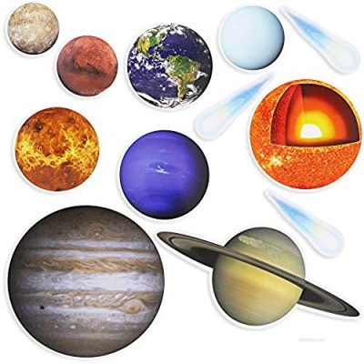 Magnetic Solar System Playset for Kids (12 Pack)