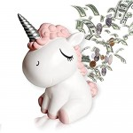 Unicorn Piggy Bank for Girls Coin Money Bank Gifts for Boys Large Piggy Bank for Kids Personalized ATM Cash Plastic Savings Bank Cute Box for Real Money for Birthday (Pink)