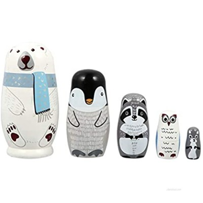 EXCEART Russian Dolls for Children Kids Black & White Lovely Nesting Dolls Christmas Decorations and Gifts