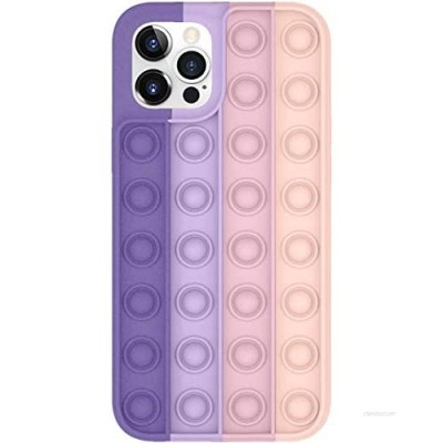 Bubble Fidget Toys Designed for iPhone SE 2020 Case  iPhone 8/7/6S/6 Sensory Bubble Funny Reliver Stress Cover Rainbow Protective Silicone Shockproof Anxiety Relief Gift Case for Women Men (Purple)
