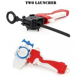 TerRevin Metal Bey Blade Launcher Grip Set with Base Arena Fusion 4D Gyro Box Fight Master