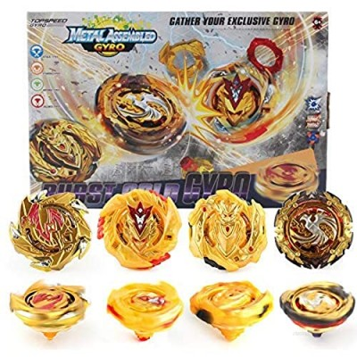Tops Bey Burst Evolution Starter 4 in 1 Battling Top Fusion Metal Master Rapidity Fight with 4D Launcher Grip Set