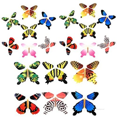 Gmai Magic Flying Butterfly - Classic Wind Up Swallowtail Butterfly - Close Up Magic Set of  Surprise Greeting Card or Romatic Wedding (20pcs)