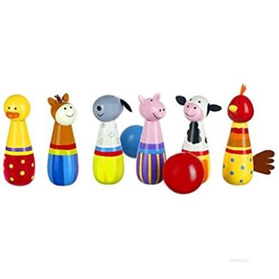 Orange Tree Toys Wooden Farm Yd Bowling Set (RY91Y1148)