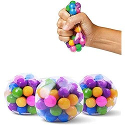 Yuffoo Fidget Toys DNA Ball  Stress Relief Squeezing Balls Hand Exercise Stress Balls for Anxiety Sensory Toys Ball for Stress-Relief and Better Focusing Toy for Kids and Adults 1PCS