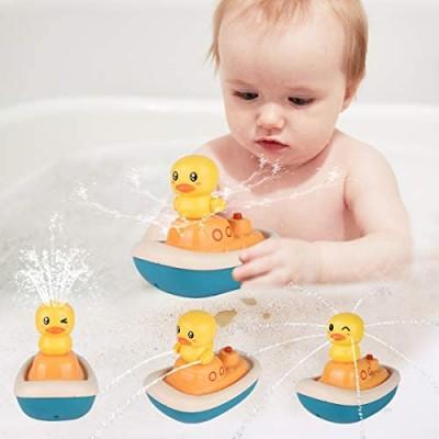 KELIWOW Bath Toys Floating Bathtub Toys Rotation Water Spray Toys for Kids Baby Bath Toys