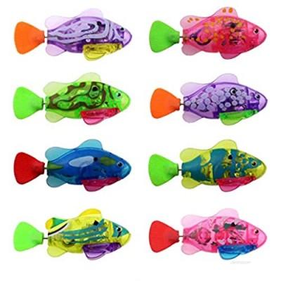 Tipmant Electronic Fish Toy Electric Animal Pets Water Tank  Bathtub  Swimming Pool Kids Bath Toys Birthday Chiristmas Gift (8 Color)