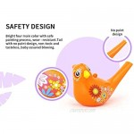Tovip 1Pcs Coloured Drawing Water Bird Whistle Bathtime Musical Toy for Kids Early Learning Educational Children Gift Toy Musical Instrument