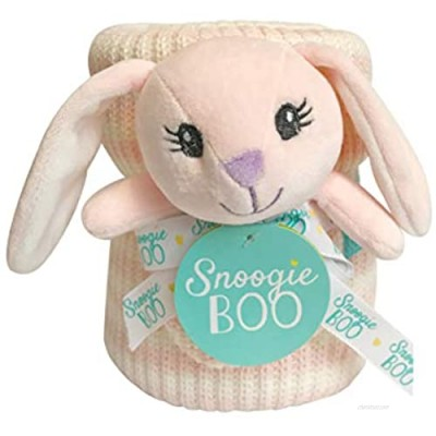 Happycare Tex SNOOGIE Boo Baby Premium Soft Knit Blanket and Toy Rattle Set