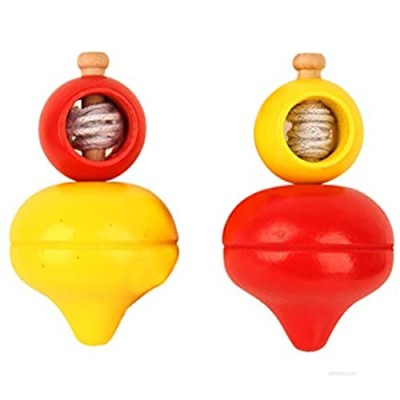 Abaodam 2pcs Funny Spinning Tops Toy Kids Educational Toy Peg-Tops Toy Spinning Tops