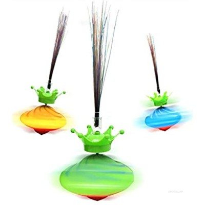 Hulzogul Spinning Top Toys  Gyro Toy Light Up Spinning Top Wand Toy Gift for Kids Adults Toys Party Favors