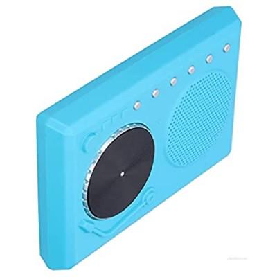 Music DJ Box  Music Box Resin Musical Supplies Portable Musical Instrument for Music Listening for Kids(blue)