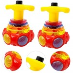 NUOBESTY Led Flashing Spinning Tops Peg-Top Toy Kids Educational Craft Gift Toys for Kids 2 Pack (Random Color)