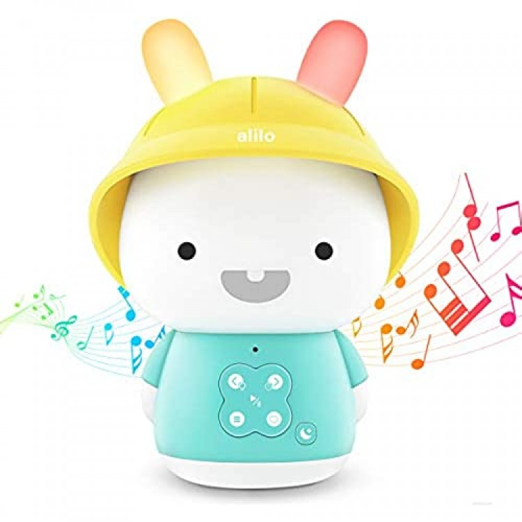 Alilo Smart Learning Robot Bunny Toy Rabbit Montessori Education Toy with New Deluxe Bluetooth and Lights Model Bedtime Storytelling Gift Present for 8-48 Months Baby Kids Infants Toddlers