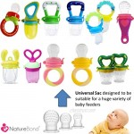 NatureBond Silicone Teat Sac (6 PCS) for Baby Food/Fruit Feeder | BPA Free Lead Free Latex Free & Phthalates Free & All Sizes Included