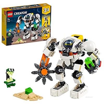 LEGO31115Creator3in1SpaceMiningMech SpaceRobotToy CargoCarrier ActionFigureBuildingSetwithAlienFigure