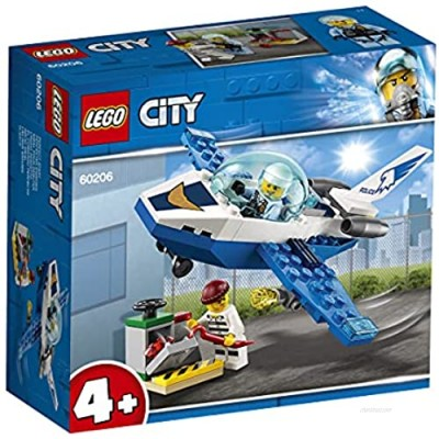 LEGO 60206 4+ City Police Sky Police Jet Patrol Aeroplane Toy Easy to Build Air Transport Toys for Kids