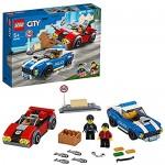 LEGO60242CityPoliceHighwayArrestwith2CarToys AdventureChaseBuildingSetforKids5+YearOld