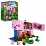 LEGO Minecraft The Pig House 21170 Minecraft Toy Featuring Alex a Creeper and a House Shaped Like a Giant Pig New 2021 (490 Pieces)
