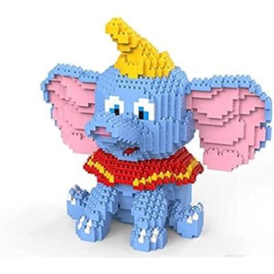 Fly Elephant Mini Cartoon Building Building Blocks for Children DIY Building Blocks Diamond Figures Dumbo Elephant Creative Toys for Children 1787Pcs