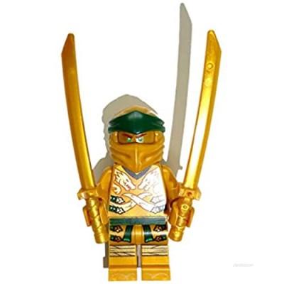 LEGO Ninjago Mini Figure Lloyd Golden Ninja / Golden Ninja with Bonus Weapons