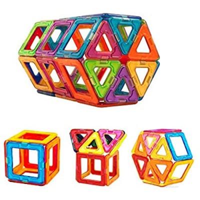 NWQEWDG Magnetic Blocks for Kids Magnet Building Tiles Block Construction Toys Creativity Kids Educational Toys Brain Games for Kids 54 Pieces